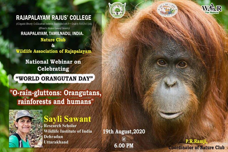 नेचर क्लब ऑफ राजपालयम राजस कॉलेज डेहरादून तर्फे आज वेबिनार