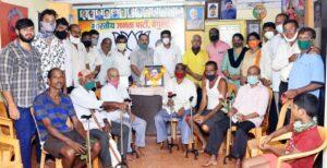 भारतीय जनता पार्टी , वेंगुर्ले च्या वतीने पंडित दिनदयाळ उपाध्याय यांच्या जयंती निमित्त दिव्यांग व व्रुद्ध व्यक्तींना आधार काठी भेट देऊन जयंती साजरी…..