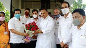 राज्यमंत्री राजेंद्र पाटील-यड्रावकर यांनी घेतला सिंधुदुर्गातील आरोग्य यंत्रणेचा आढावा..