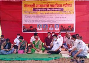 बॉक्सवेल मंजुर प्रकरणी उपोषणकर्त्यांची शिवसेना नेते संदेश पारकर यांची उपोषणस्थळी जाऊन ग्रामस्थांशी चर्चा