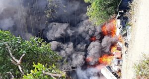 माजगाव उद्यमनगर येथील गोदामाला भीषण आग