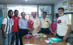 बांदा नवभारत शिक्षण प्रसारक मंडळाच्या श्री.उल्हास देसाई यांचा वाढदिवस साजरा