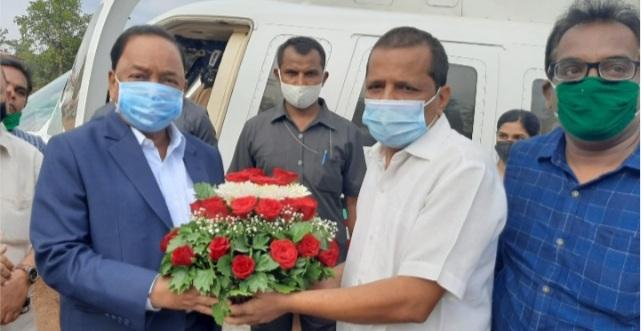 माजी मुख्यमंत्री नारायण राणे खाजगी दौऱ्यानिमित्त सावंतवाडीत