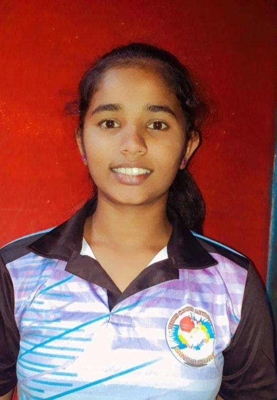 नापणेतील कु.भक्ती कोकरेची 'भुवनेश्वर' येथील राष्ट्रीय टेनिस बॉल क्रिकेट स्पर्धेसाठी निवड