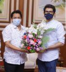 संदेश पारकर यांनी घेतली युवासेनाप्रमुख, महाराष्ट्र राज्याचे पर्यटनमंत्री श्री.आदित्य ठाकरे यांची भेट