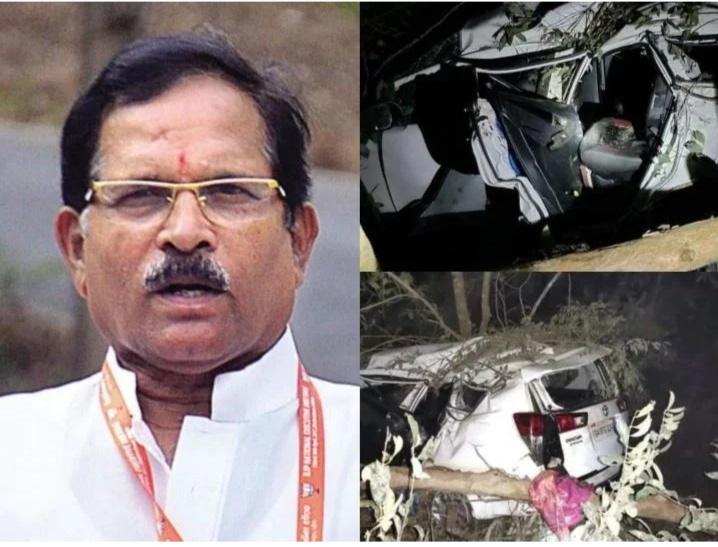 केंद्रीय मंत्री श्रीपाद नाईक यांच्या कारला भीषण अपघात, पत्नीचा मृत्यू, नाईक गंभीर जखमी
