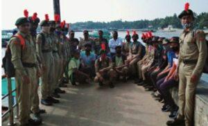 एनसीसीच्या विद्यार्थ्यांना सागरी सुरक्षा दलबाबत मार्गदर्शन….
