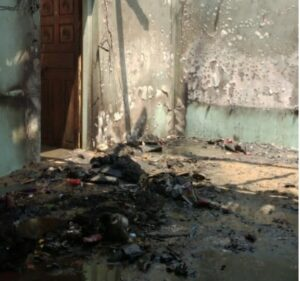 देवबाग डिंगेवाडीत शॉर्टसर्किटने आग लागून घर बेचिराख…