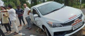 सावंतवाडी नगराध्यक्ष संजू परब यांच्या गाडीला अपघात…