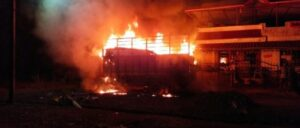 Read more about the article अचानक आग लागल्यामुळे सावंतवाडीत गरड येथे कंटेनर जळून खाक…