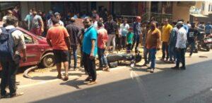कणकवलीत प्रांत ऑफिस समोर अपघात…