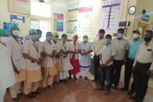 बार्टीतर्फे ग्रामीण रुग्णालयातील महिला कर्मचाऱ्यांचा सत्कार…