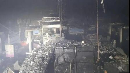 विरारच्याकोविड रुग्णालयात भिषण आग…