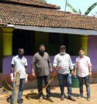 सातार्डा गावात वाढत्या कोविड रुग्णांच्या पार्श्वभूमीवर निरजंतुकीकरण