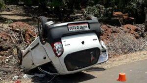 वेंगुर्ले येथे कार-दुचाकी अपघात; दोघे जखमी