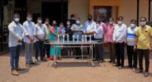 आमदार नितेश राणे यांनी दिले देवगड ग्रामीण रुग्णालयाला ऑक्सिजन सिलेंडर भेट