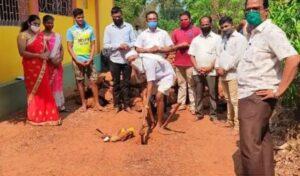 अणसुर जैन ब्राम्हण मंदिर रस्त्याचे भूमिपूजन