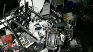 कोव्हिड केअर सेंटरला भीषण आग…