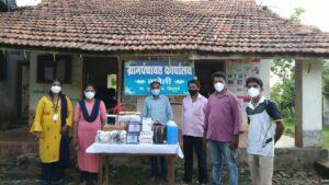 मुंबईस्थित नानेलीवासियांनी केली गावाला मास्क, मशीन गन व सॅनिटायझर रूपात मदत