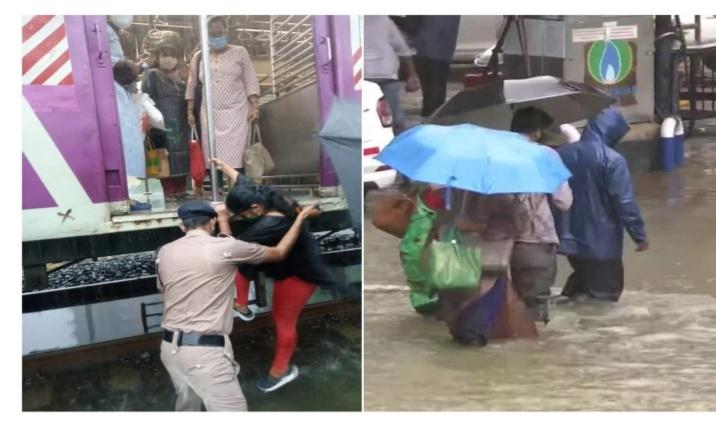 गेल्या १ तासापासून अक्षरशः मुंबईला पावसाने झोडपले