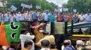 Read more about the article सिंधुदुर्ग जिल्हा रुग्णालयासमोर भाजपाचे लक्षवेधी आंदोलन