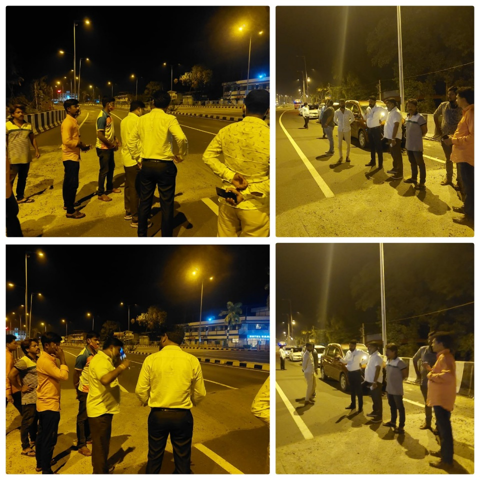 मनसे रस्ते सुविधा आणि आस्थापन, विभागाचा मुंबई – गोवा हायवे पहाणी दौरा.