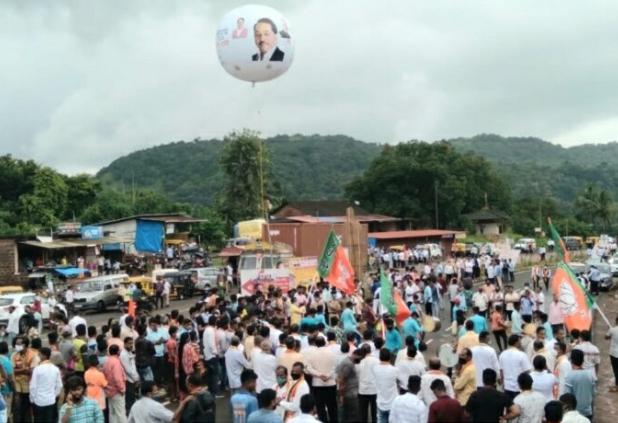 You are currently viewing केंद्रीय उद्योग मंत्री नारायण राणे यांचे सिंधुदुर्ग जिल्ह्यात उत्स्फूर्त स्वागत