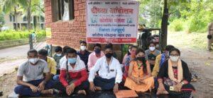 Read more about the article कोरोना योध्यांचे पुन्हा जि. प. समोर ठिय्या आंदोलन..