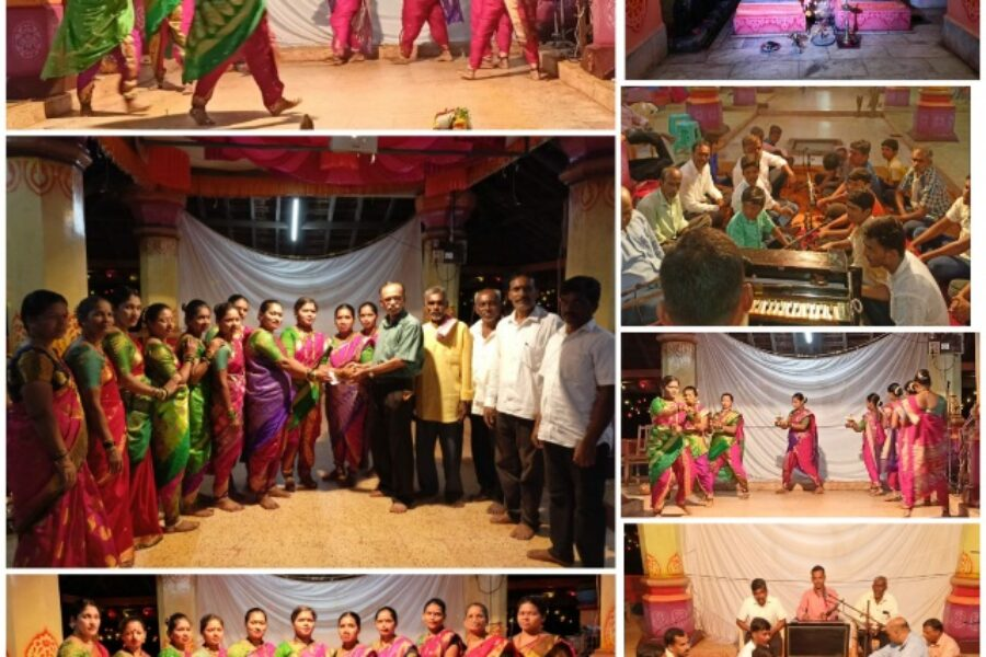 डेगवे श्री माऊली मंदिरात नवरात्रोत्सवात समयी नृत्याचा कार्यक्रम संपन्न..!